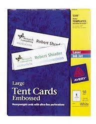 Avery Templates 5309 by Avery Template Tent Card 5309 Bestsellerbookdb