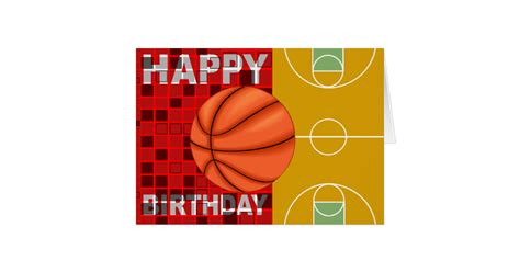 imagenes de happy birthday basketball basketball happy birthday card zazzle