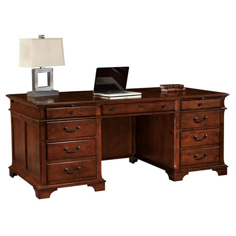 cherry desk hekman 7 9270 weathered cherry executive desk discount furniture at hickory park furniture galleries