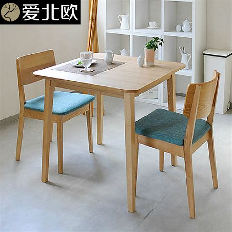 Small Solid Wood Dining Table Japanese Small Family Dining Table And Chairs Modern Simple Solid Wood Dining Table In Outdoor