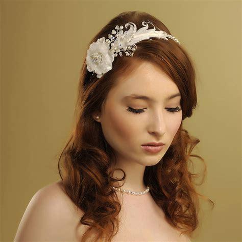 Handmade Headpieces - handmade beth wedding headpiece by rosie willett designs