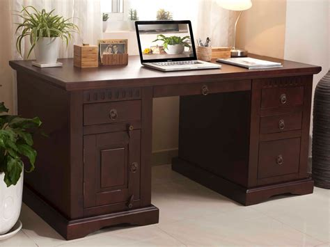 Schreibtisch Antonio Ii 150x85 Kolonial Holz M 246 Bel Massivum