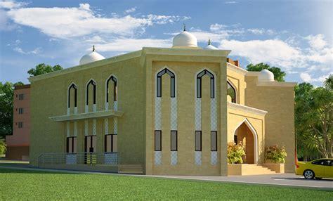 masjid design front 3d front elevation com dimentia muslim mosque 3d front