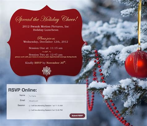 employee holiday luncheon invitation template 15 lunch invitations sle templates