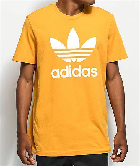 Tshirt Adidas Yellow adidas trefoil tactile yellow t shirt zumiez