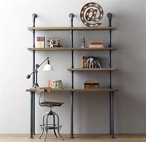 diy industrial pipe desk industrial pipe single desk shelving