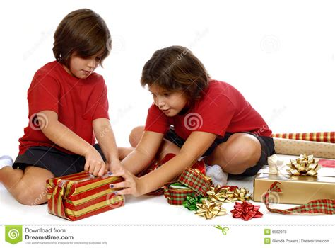 gift children wrapping gifts royalty free stock photos image 6582378