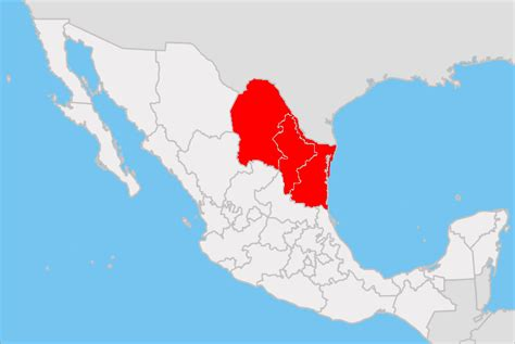eastern mexico map northeastern mexico