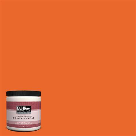behr paint colors orange glow behr premium plus ultra 8 oz 220b 7 electric orange