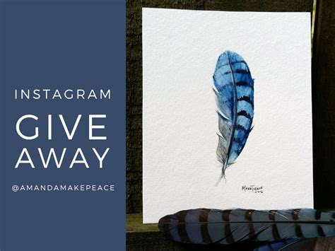 Art Giveaway Instagram - feather tessera guild
