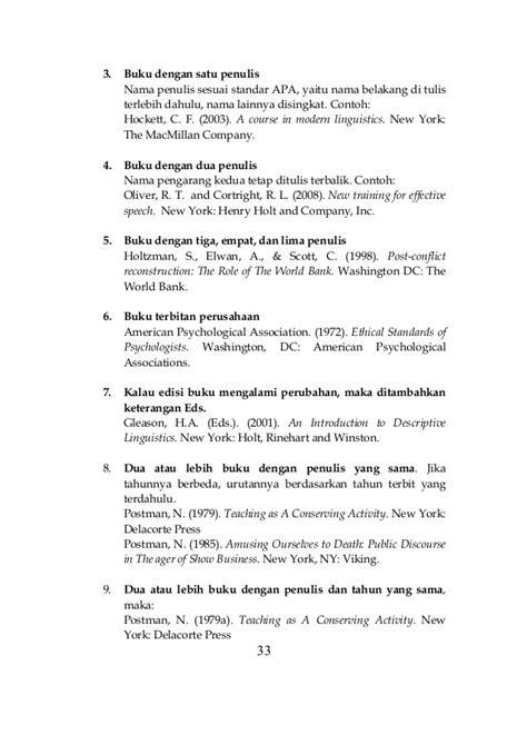 buku panduan skripsi nonskripsi 2013 contoh daftar pustaka empat pengarang kontrak kerja