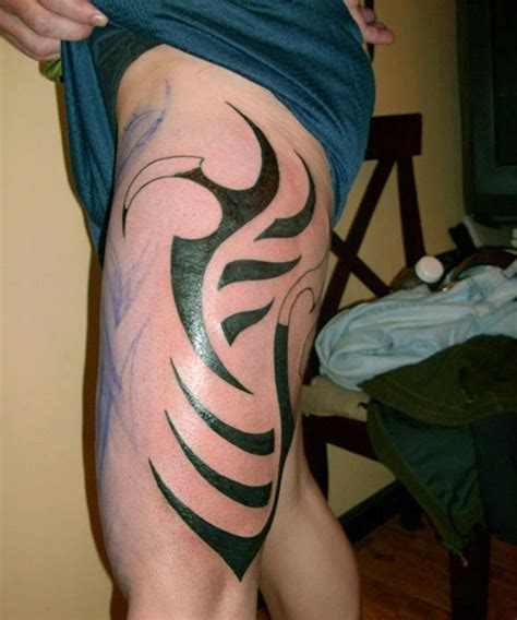 thigh tribal tattoo designs the popularity of thigh tattoos for designs