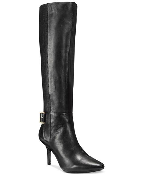wide dress boots for calvin klein julietta wide calf dress boots in brown