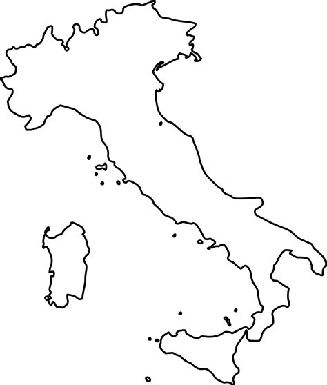 map of italy coloring page coloring home