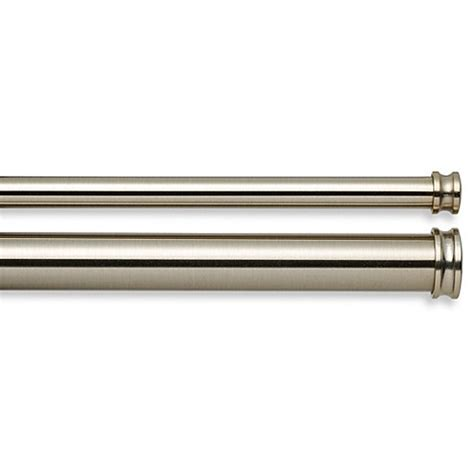 cambria drapery rod cambria 174 complete brass curtain rod bed bath beyond