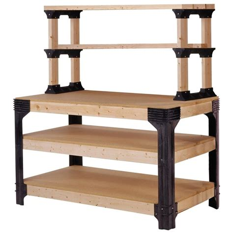 2x4 basics reloading bench diy garage shelf plans home decorations