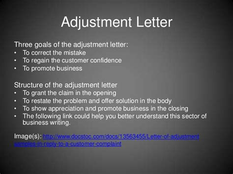 Business Adjustment Letter Definition Chapter 9 App Pwrpt