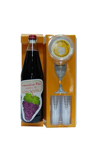 Wedding At Cana Wine Or Grape Juice by Holy Communion Set