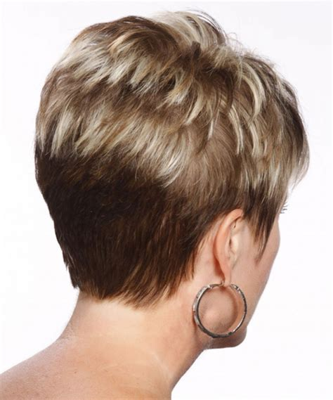 short gray hairstyles with wedge in back short wedge haircut back view 56 with short wedge haircut
