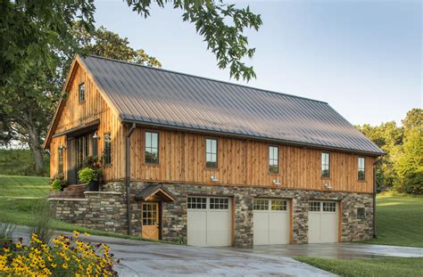 two barns house barn home features open living space with a 3 car garage below