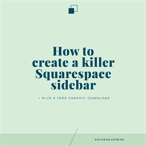 squarespace templates with sidebar how to create a killer squarespace side bar free graphic