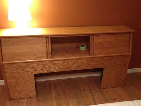 solid oak bookcase headboard saanich
