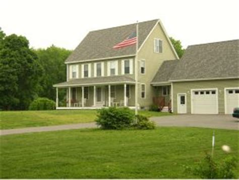 colonial house with farmers porch 106 high range londonderry nh custom built colonial with