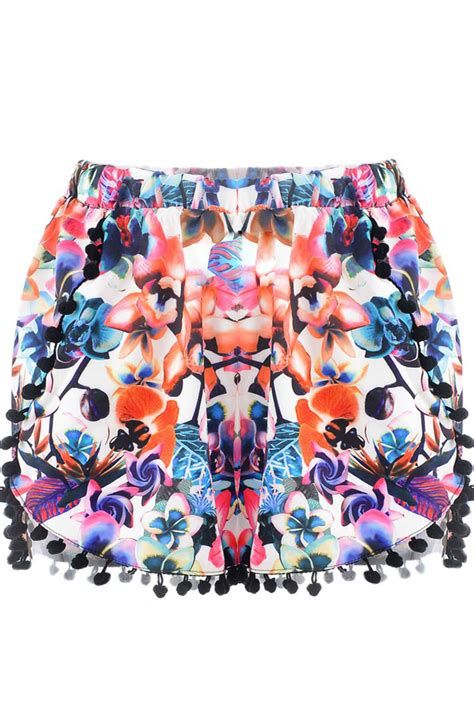 Pom Pom Decoration Size Xs dazzling floral pom decoration shorts on luulla
