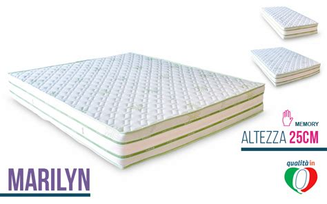 lattice materasso materasso lattice e memory foam marilyn