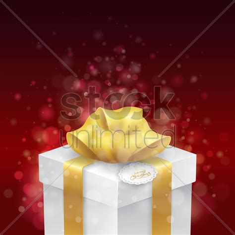 gift box  merry christmas tag vector image  stockunlimited