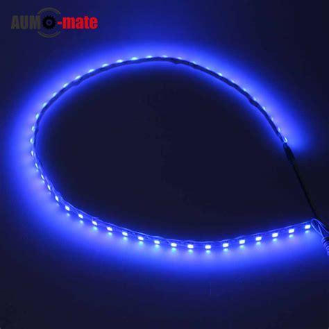 Car Led Light Strips 4pcs 44cm Soft Car Led Light Eye Drl Waterproof Led Strips In Daytime Running Lights