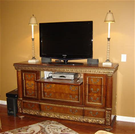 Convert A Dresser Into A Tv Stand by In Stitches Dresser To Tv Stand