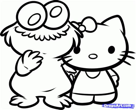 Hello Kitty Valentine Coloring Pages Free L