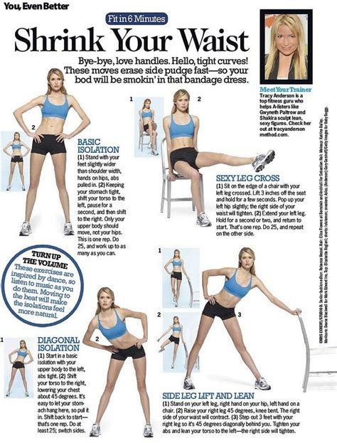 get that thin waist you ve always wanted fitness thin waist exercises and workout