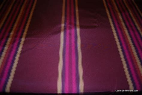 taffeta drapery fabric faille stripe italy wine fuschia silk fabric taffeta