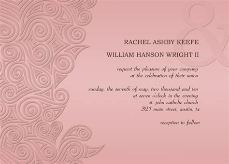 free invitation card template free wedding invitation card templates