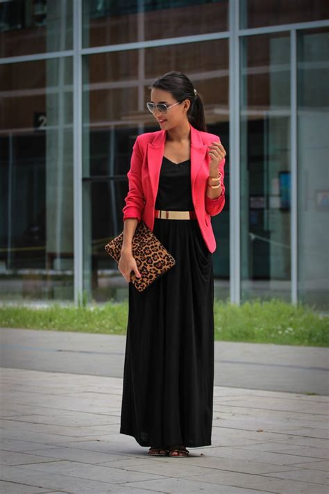 Maxi Dres And Blazer how to wear maxi dresses to work glam radar