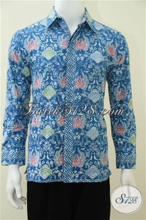 Rok Panjang Motif Batik Biru hem batik warna biru motif biota laut baju batik lengan