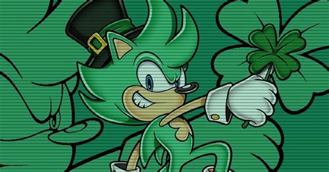 happy st patricks day sega  irish  hedgehog