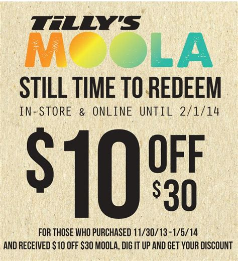 Tilly S Gift Card - tilly s moola still time to redeem free shipping on all orders 4 days only