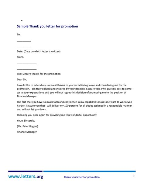 Promotion Expectation Letter Thank You Letter For Promotion Doc Pdf Page 3 Of 5