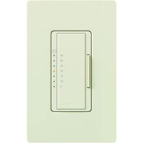 Light Timer Home Depot by Lutron Maestro 600 Watt Light 3 Fan Timer Light Almond Ma T51h La The Home Depot