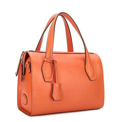 leather bags inspired leather handbags orange