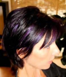 purple brown hair color purple hair color with highlights hairstylegalleries