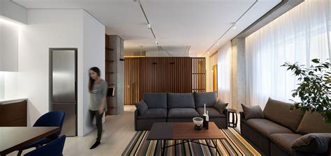 Minimalist Living Room Apartment by Minimalist Apartment In Dnepropetrovsk Ukraine