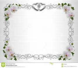 wedding invitation border orchids ivy stock illustration