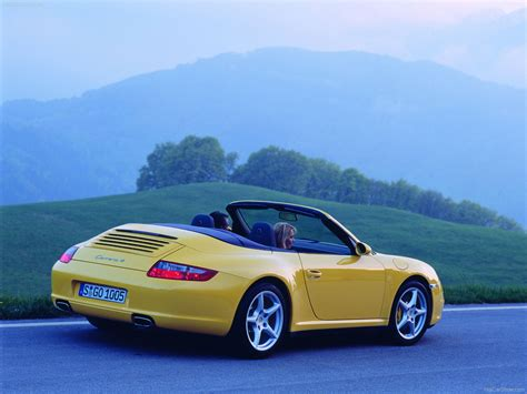 yellow porsche 2006 yellow porsche 911 carrera 4 cabriolet wallpapers