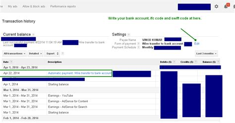 adsense tos google adsense wire transfer india review accounting