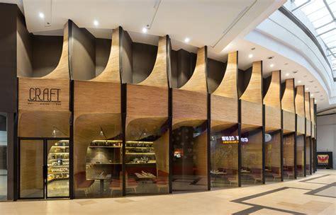 spa forms sculptural timber arcade  restaurant  mumbai