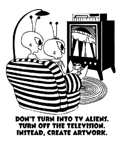 Don T Turn Into Tv Aliens Coloring Page Crayola Com Turn Your Picture Into A Coloring Page